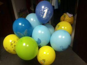 roczek dla chłopca - duży bukiet 15 balonów ( koszt 60 PLN)