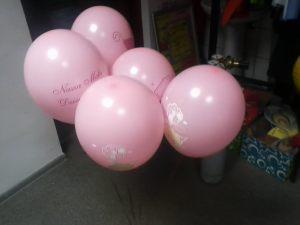 roczek dla dziewczynki - mały bukiecik na balonach BELBAL